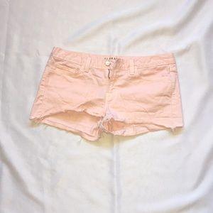 J Brand Cut Off Pink Shorts